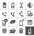 Mobile account management icons vector image vector image