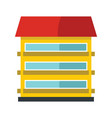 Private residential cottage house flat icon vector image