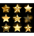 set of gold stars vector image
