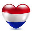 Heart shaped icon with flag of Netherlands vector image