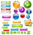 UI buttons vector image vector image