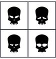 Silhouette Skull Isolated on White vector image