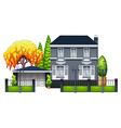 An elegant house vector image