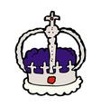 comic cartoon crown vector image