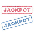 jackpot textile stamps vector image
