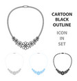 necklace icon of for web and vector image