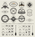 Set of logos and icons vector image