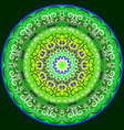 symmetrical circular pattern in bright colors vector image