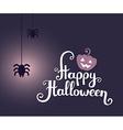 halloween with text happy halloween glowin vector image