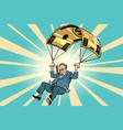 senior citizen golden parachute financial vector image