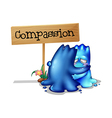Two compassionate monsters vector image vector image