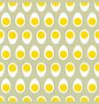 half egg with yolk seamless ornament easter food vector image