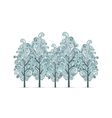 Grove with winter trees for your design vector image vector image