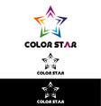 Color star logo template vector image vector image