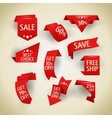 Collection of sale discount origami styled website vector image
