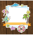 Summer decorative background vector image