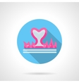 Passion abstract round flat icon vector image