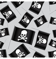black pirate flag with skull and bones pattern vector image