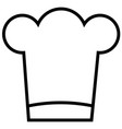 chef food restaurant stream line icon vector image
