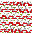 cherries pattern fresh fruit drawing icon vector image