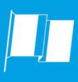 flag of ireland icon white vector image