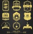 Luwak Coffee Premium Vintage Label vector image