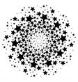 Mandala with sacred geometry symbols and elements vector image