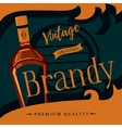 Old style brandy or brandywine poster vector image