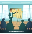 School Training Courses Education Poster vector image