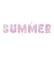 Summer butterflies background vector image