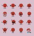 apple character emoji set vector image