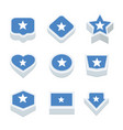 somalia flags icons and button set nine styles vector image