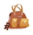 A view of hand bag vector image