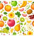 fresh natural food seamless pattern vector image vector image