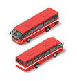 isometric of red bus vector image