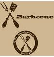 Vintage barbecue vector image vector image