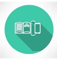 smartphone and book exchange icon vector image