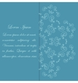 Blue card design with ornate flower pattern vector image