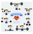 Health and wellness cartoon concept vector image
