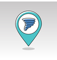 Tornado Whirlwind pin map icon Weather vector image