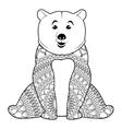 mandala bear icon vector image