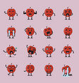apple character emoji set vector image