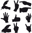 few hand gestures vector image