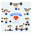 health and wellness cartoon concept vector image