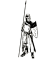 Medieval Knight with Spear vector image
