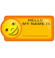 name tag vector image