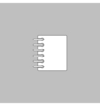notepad computer symbol vector image