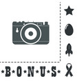 photo camera icon sign and button vector image