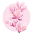 polygon flowers vector image
