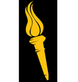 torch with flames vector image